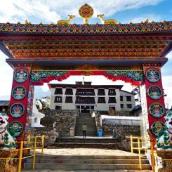 Een klooster in Tyangboche.